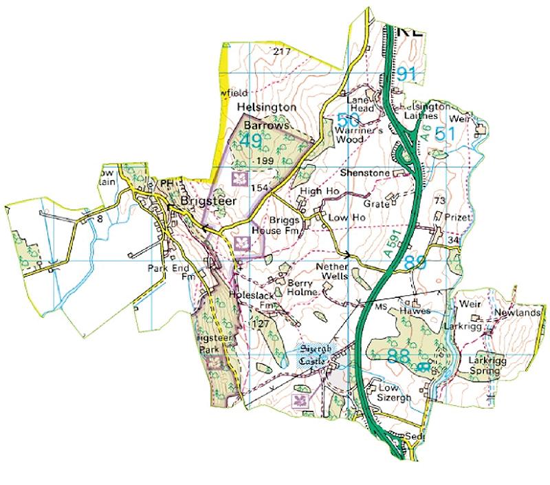 Map of Helsington Parish